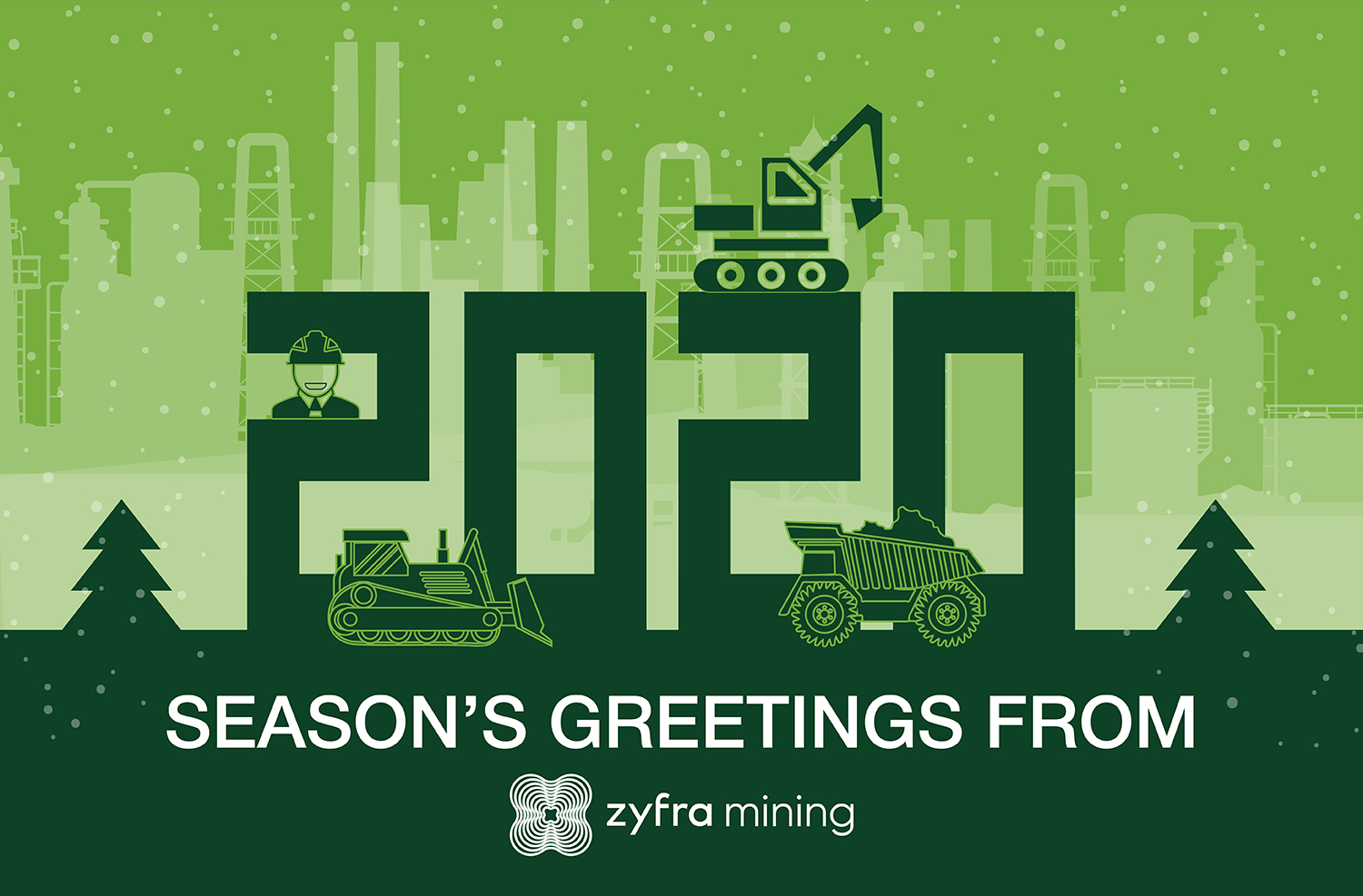 season's greetings from zyfra mining!